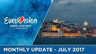 Eurovision Song Contest - Monthly Update - July 2017