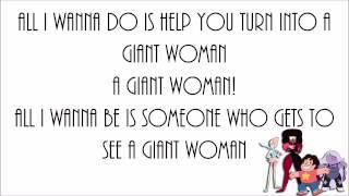 Rebecca Sugar - Giant Woman (Lyrics)