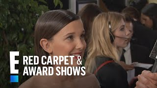 Millie Bobby Brown Inspired By Adele At 2017 Golden Globes  E Live From The Red Carpet