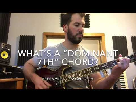 This video briefly explains a Dominant 7th Chord