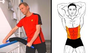 Bauchmuskeltraining: 6 Biegehantel Übungen (Crunches, Bauch-Twists, Seitbeugen) - Power Twister