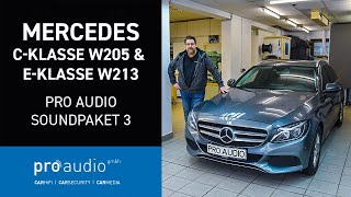 Mercedes C Klasse W205 & E Klasse W213 | Car-Hifi Soundpaket 3 | Pro Audio GmbH aus Essen