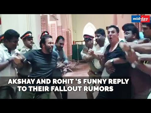 Akshay Kumar and Sooryavanshi director Rohit Shetty's funny reply to their fallout rumours