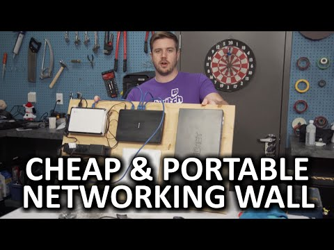 Keep Your Networking Gear Organised With A Wall-Mounted Velcro Board