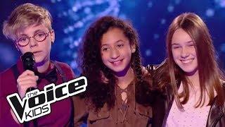 """Nawel / Océane / Amandine - """"L'encre de tes yeux""""   The Voice Kids France 2017   Battle"""