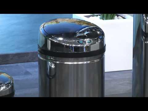 infactory Tisch-Mülleimer mit Bewegungssensor