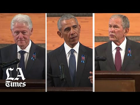 Former Presidents Bush, Clinton and Obama speak at John Lewis' funeral