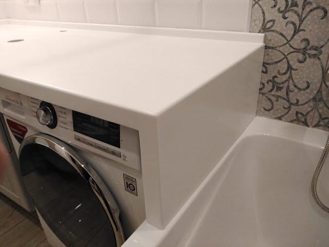 Столешница в ванную из искусственного камня Staron BW010 Bright White Solids