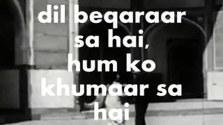 Dil Beqaraar Sa Hai-Karaoke & Lyrics-Ishaara - YouTube