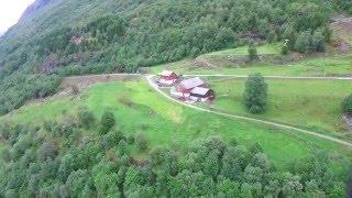 Fjellgården Øvre-Ljøen from the air