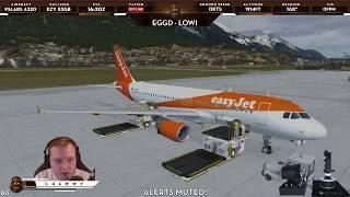 Xplane 11 Zibo 737-800 Visual Approach LOWI Runway 08 Part 1