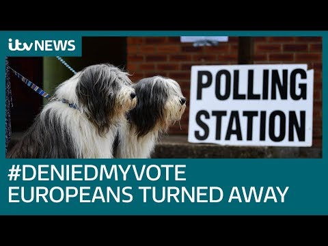 European voters turned away from UK polling stations | ITV News