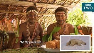 Tribes react to polar bears - Tribes, Predators and Me - BBC Two
