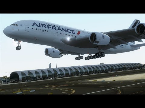 FSX A380 Dubai to Paris (T2G scenery) [AMAZING REALISM+