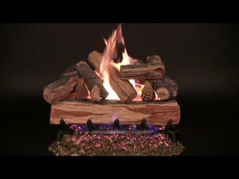 Rasmussen Cross Fire Vented Gas Log Set