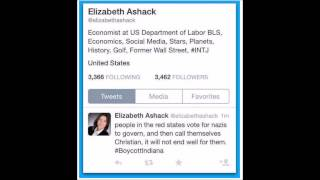 "Liberal Hate: Obama Regime ""Economist"" Elizabeth Ashack (Limbaugh)"