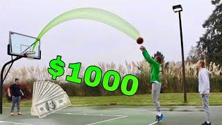 Last To Miss 3 Point Shot WINS $1,000 Challenge!