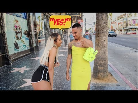 I Said YES To EVERYTHING My Ex Girlfriend Said for 24 HOURS *WORE DRESS IN HOLLYWOOD*
