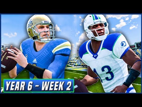 NCAA Football 14 Dynasty Year 6 - Week 2 @ UCLA (Jessie Heikenen's Debut) | Ep.92