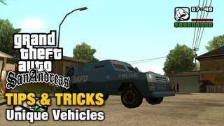 GTA San Andreas - Tips & Tricks - Unique Vehicles