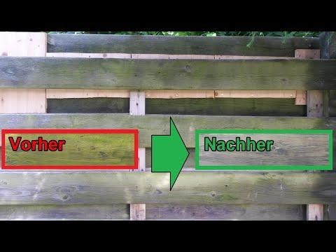 Grünspan von Holz Zaun & Terrasse mit Hausmittel mühelos entfernen – Holz vom Moos reinigen