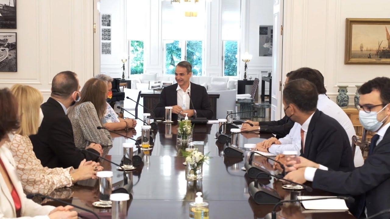 Συνάντηση του Πρωθυπουργού με μέλη της Επιτροπής για την Εθνική Στρατηγική Ισότητας των ΛΟΑΤΚΙ+