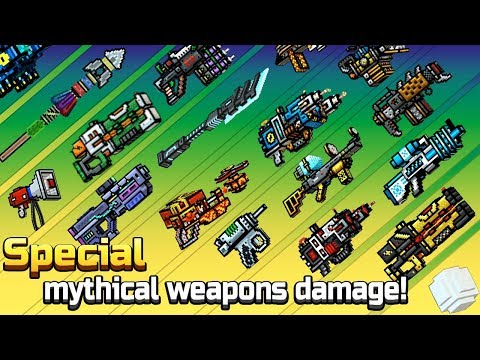 Pixel Gun 3D - Special Mythical Weapons Shots Damage + Reloading Animations