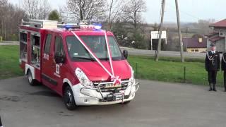 Pokaz możliwości nowego samochodu OSP Chorkówka