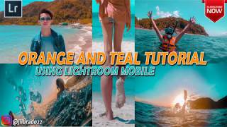 How To Easily Create Orange And Teal Theme Using Adobe Lightroom Mobile  Perfect Instagram Feed