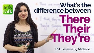 Difference between – There, Their and They're (They are) – English Grammar Lesson |  Writing Skills