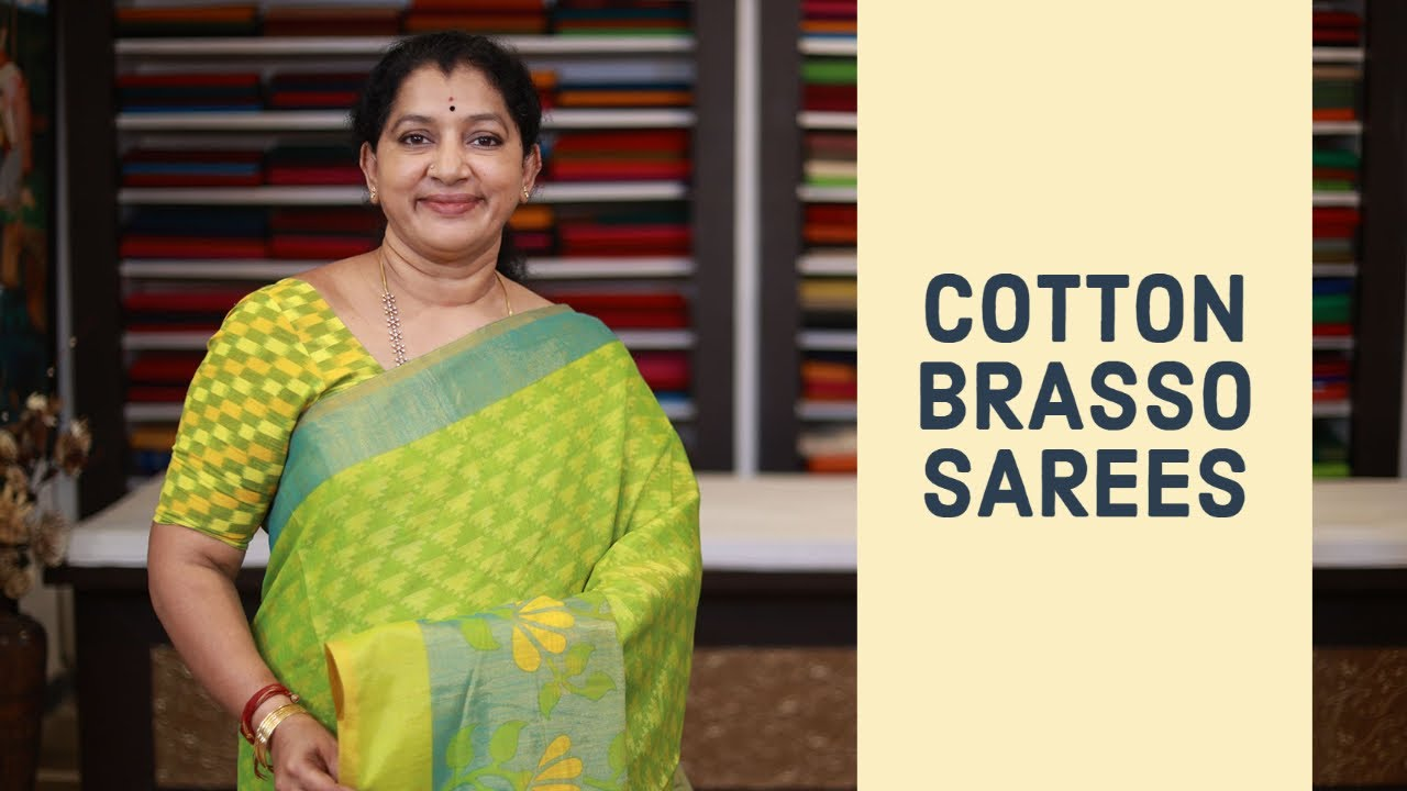 """<p style=""""color: red"""">Video : </p>NEW COTTON BRASSO SAREES COLLECTIONS 
