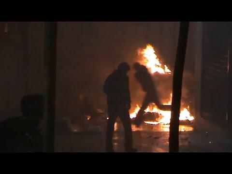 Εξέγερση Δεκέμβρης 2008: Η Αθήνα στις φλόγες (8 Δεκέμβρη, Ακαδημίας, Σταδίου)