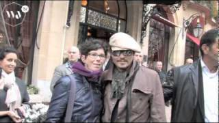 Johnny Depp In Paris - Nice Bohemian Style
