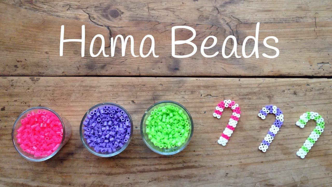 Hama Beads para Navidad - Adornos navideños con forma de bastón