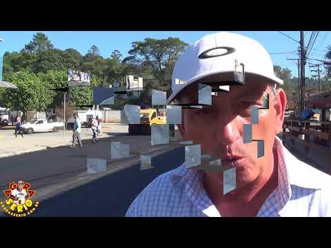 Prefeito Ayres Scorsatto agradece ao Frigoyama e Fala sobre a Pavimentação da Rua Jorge Victor no Centro de Juquitiba