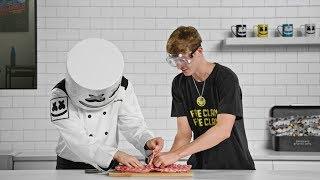 Blazin' HOT 🔥Baby Back Ribs (Feat. Faze Blaze) | Cooking with Marshmello
