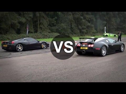 Ferrari 458  Vs  Bugatti Veyron