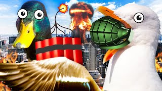 DUCK & SEAGULL Destroy the City - Bird Simulator | Pungence