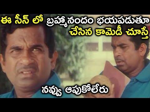 ఈ సీన్ లో బ్రహ్మానందం భయపడుతూ చేసిన కామెడీ చూస్తే నవ్వు ఆపుకోలేరు  || Latest Telugu Movie Scenes