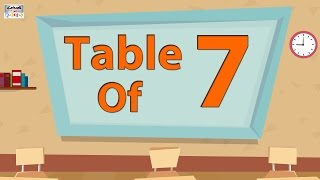 7 Times Table Multiplication | Learn 7x Table | Learn Seven Multiplication Tables For Beginners