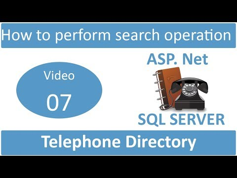 how to perform search operation in telephone directory