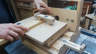 Horizontal Router Table Demo (How To Cut Mortise And Tenon Joints Using A Router)