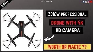 Folding RC camera Drone Unboxing & Testing Transmitter or APP control WiFi FPV HD w/a camera