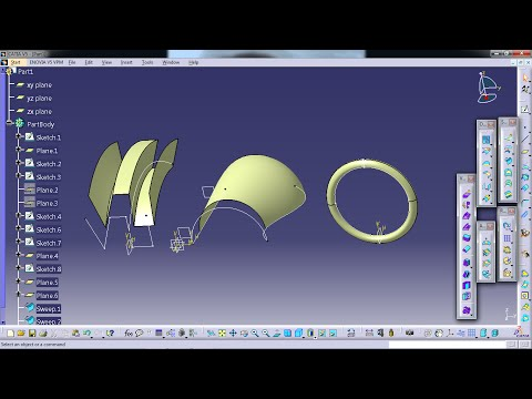 Surface In Catia Part 5 Sweep - Profile Type Explicit Mp3