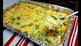 Broccoli Cheese Rice Casserole Recipe | How To Make Broccoli Cheese Rice Casserole