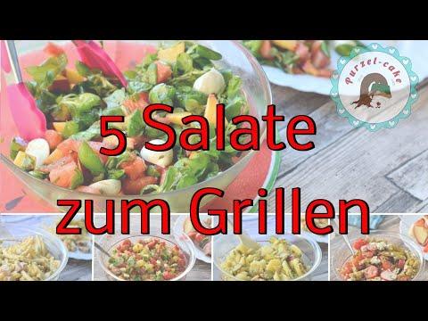 Salate zum Grillen / 5 verschieden Salat Ideen als Grillbeilage
