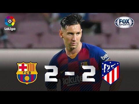 GOL 700 DE MESSI! GENIAL! Melhores momentos de Barcelona 2 x 2 Atlético de Madrid pela La Liga