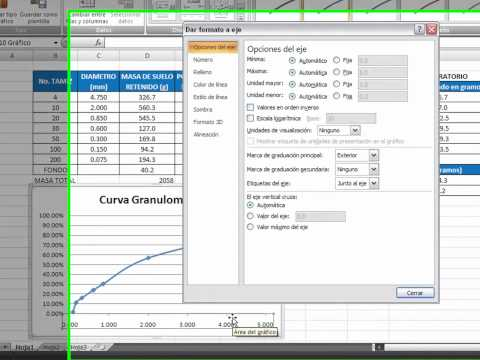 Granulometría - Cálculos; Verlo en HD y pantalla expandida