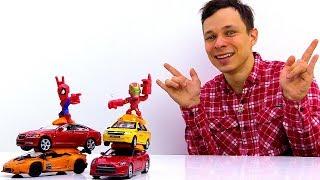 Фёдор прокачивает машинки для Героев Марвел. Видео для мальчиков.