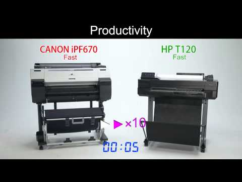 iPF670 vs T120 Printer Comparison